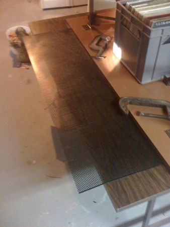 Laying the material on the table for bending