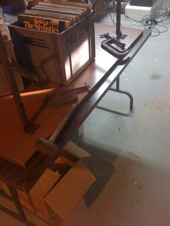 My sophisticated sheet metal bending table