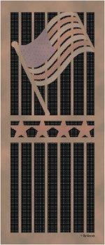Custom printed solar screening