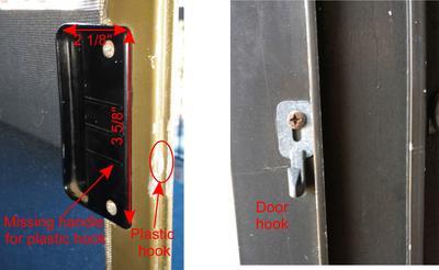 Broken screen door latch
