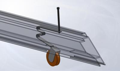 Spring style screen door roller installed in mitered screen door
