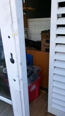 Missing patio door handle