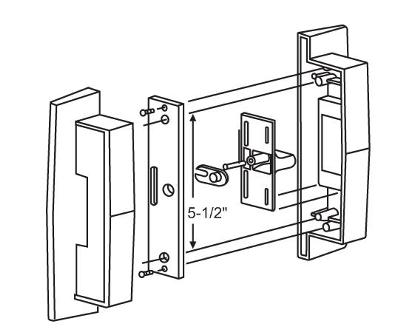 Sliding Glass Door Locks on door latch mechanism diagram