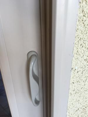 Patio Door Handle Has No Visible Screws