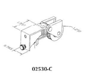 Patio door roller - 02530C