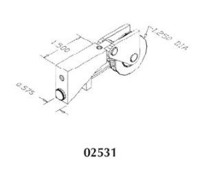 Patio door roller - 02531