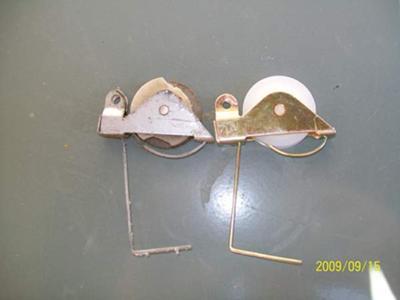 Screen door roller installation & Screen door rollers - Getting them removed