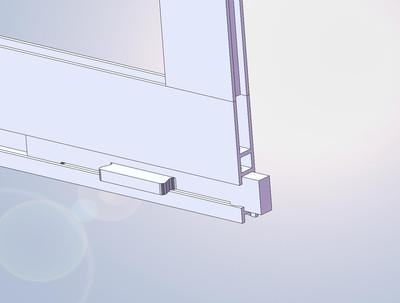 Screen wont roll up when lifting glass for Storm door with roll up screen