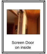 Screen door on the inside
