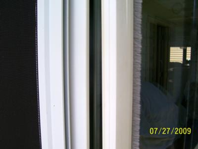 Sliding Screen Door Bugstrip Needs Replacing