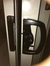 How do I remove this Australian patio door handle ?