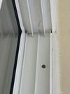 Side jamb and top fin for screen door