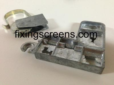 Screen door roller and corner