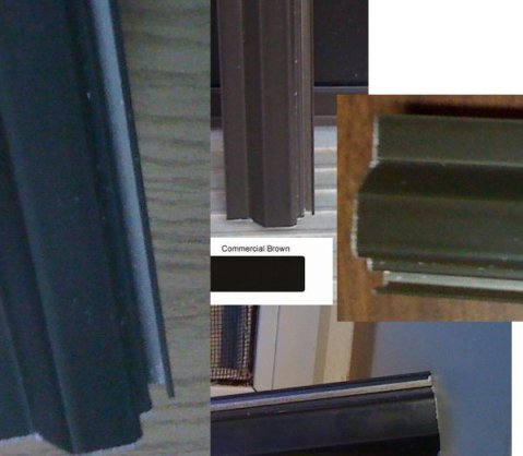 aluminum screen door colors bronze