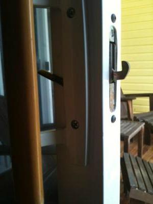 Balcony Door Handle White External Mounting