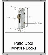 Repairing patio door mortise locks