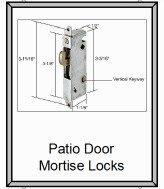 Repairing patio door mortise locks