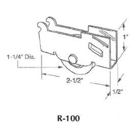 Patio door roller - R100