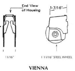 Patio door roller - Vienna