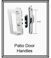 Patio door handles