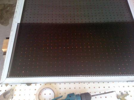 Perforated aluminum black epoxy coated pet guard material