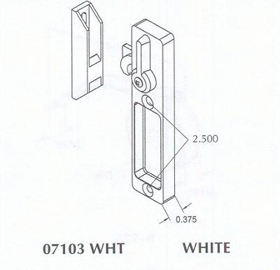 surface mounted screen door loc