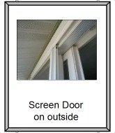 Screen door on the outside