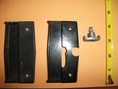 screen door handles and latchbroken