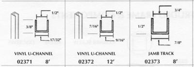 Vinyl window screen tracks