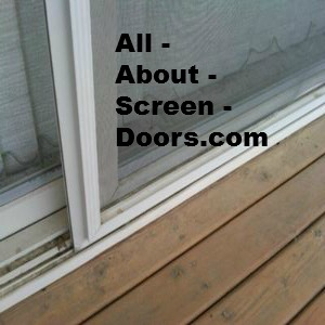 Sliding patio screen door replacement for with our kit Screen door replacement